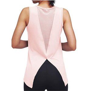 Mippo Tops - NWT MIPPO Women's Pink Mesh Back Panel Workout Top